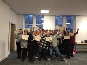 Team photo after completeing CRAFT training with Scottish Families Affected by Alcohol and Drugs