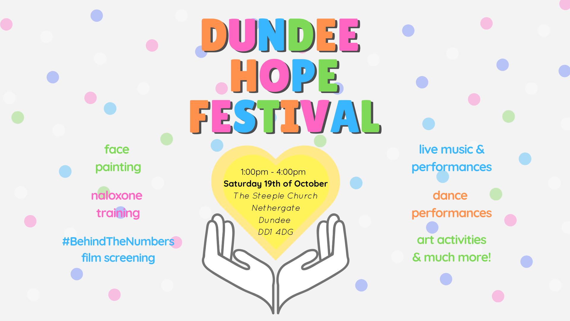 Colourful banner for Festival