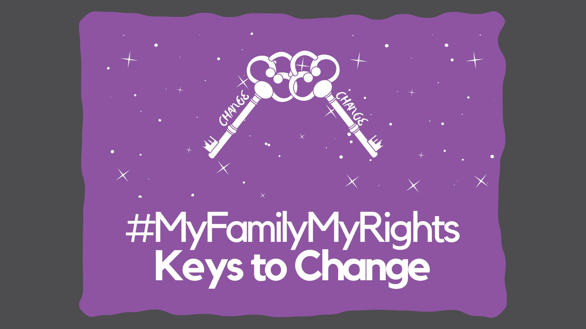 Keys on a purple background