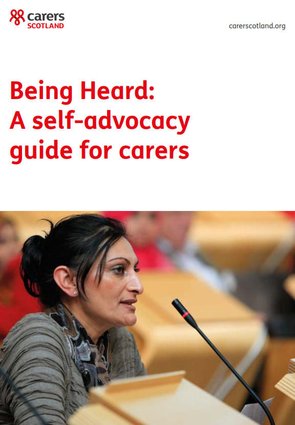 Cover of training resource for self advocacy