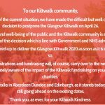 Glasgow Kiltwalk is Postponed